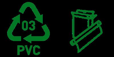 Simbol Daur Ulang Plastik 3 PVC