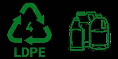 Simbol Daur Ulang Plastik 4 LDPE