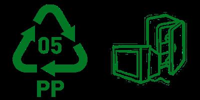 Simbol Daur Ulang Plastik 5 PP