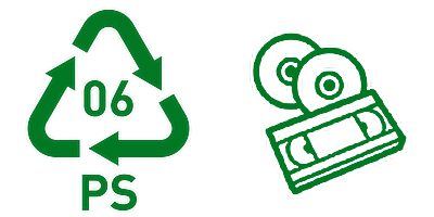 Simbol Daur Ulang Plastik 6 PS